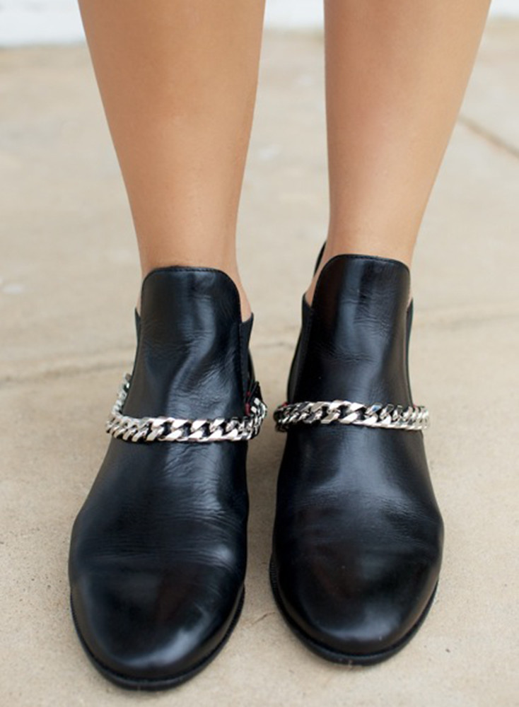 DIY Chain Boots