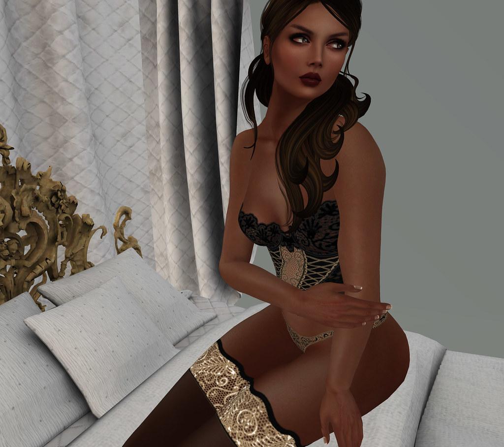 Giorgia, black /gold, TST creations