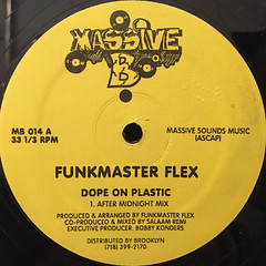 FUNKMASTER FLEX:DOPE ON PLASTIC(LABEL SIDE-A)