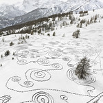 Sonja Hinrichsen; Snow Drawings Briancon, France; Archival pigment print; 2014 - Double Exposure: An Exhibition of Photography and Video