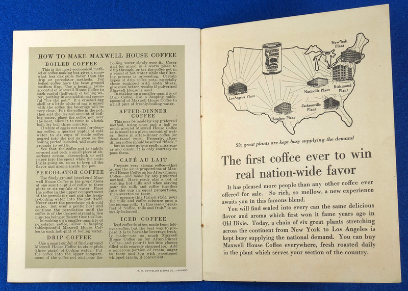 RD12151 1925 Advertising Booklet for Maxwell House Coffee Titled The Story of Coffee DSC08594