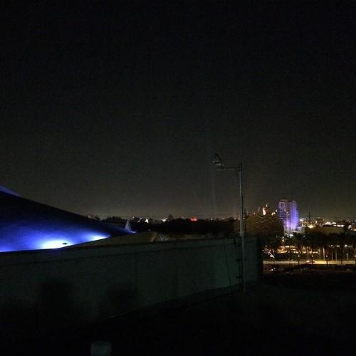 いまからD23 Expo会場の屋上で、Disneyland Forever!をみんなで見ます。