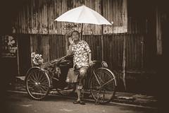 Friendly rickshaw driver in Goergetown'