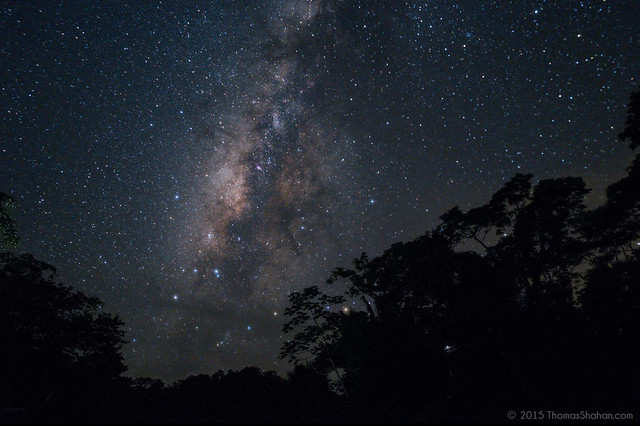 View of Milky Way from Belize