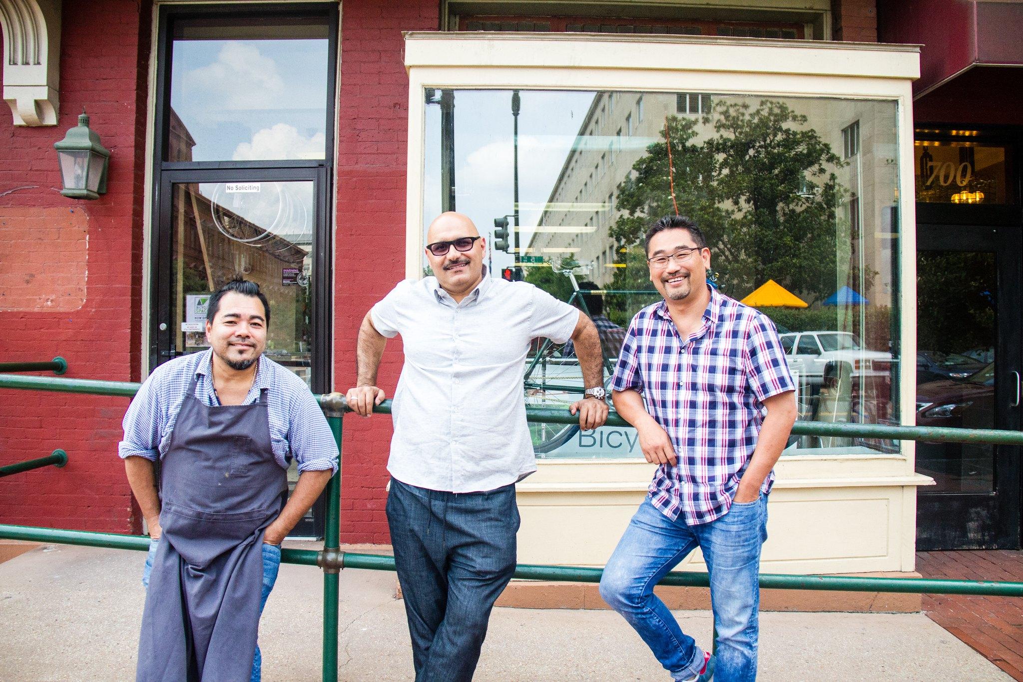 Daisuke Utagawa, Chef Katsuya Fukushima, and Yama Jewayni-not present