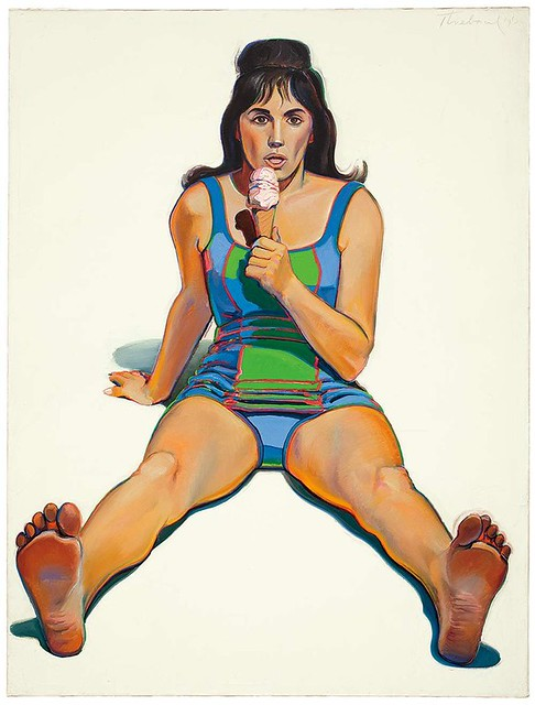 Wayne Thiebaud, Girl with Ice Cream Cone, 1963