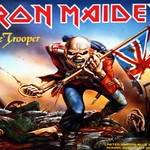 IRON MAIDEN The Trooper / Another Life Blue Vinyl + Poster