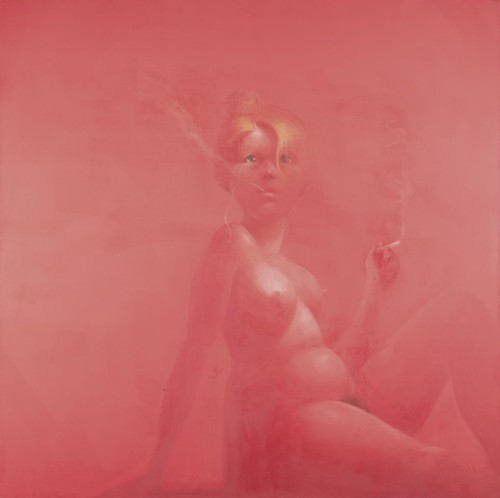 Lisa Yuskavage, Big Blonde Smoking, 1994