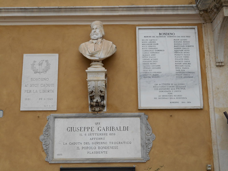 Giuseppe Garibaldi, Municipio, Bondeno