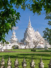 the white temple Rong khun  by chomphuphucar