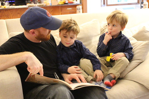 Uncle Adam Reading to Elliott and Martin