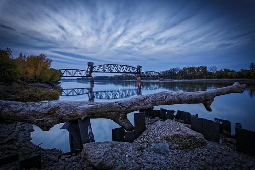 "bridge ""Katy Bridge"" ""railroad bridge"" ""rail bridge"" ""Boonville Missouri"" boonville ""Missouri River"" water sky clouds sunset Notley ""Notley Hawkins"" 10thavenue ""cooper county"" river rivière río reflection reflexión Reflexion odraz eftertanke missouri http://www.notleyhawkins.com/ ""Missouri Photography"" ""Notley Hawkins Photography"" ""Rural Photography"" 桥 पुल pont גשר جسر puente Fall 2015 October log timber"