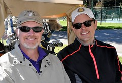 L-R: Gordon Bailey and Rotary Club President Chris Morden.