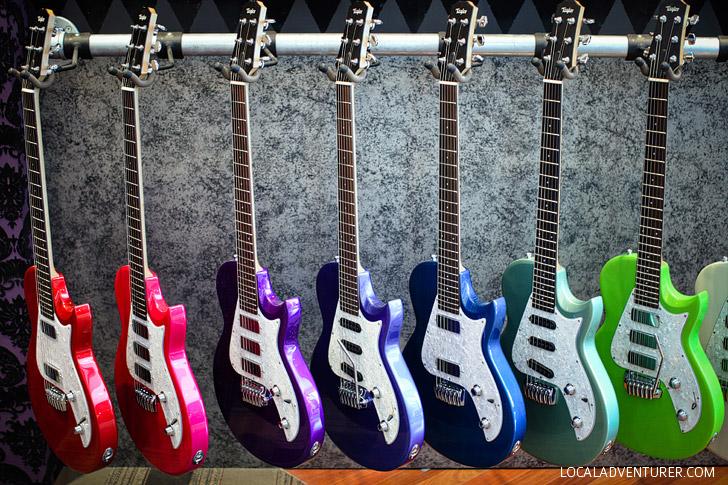 Taylor Guitar Factory Tour El Cajon San Diego California.