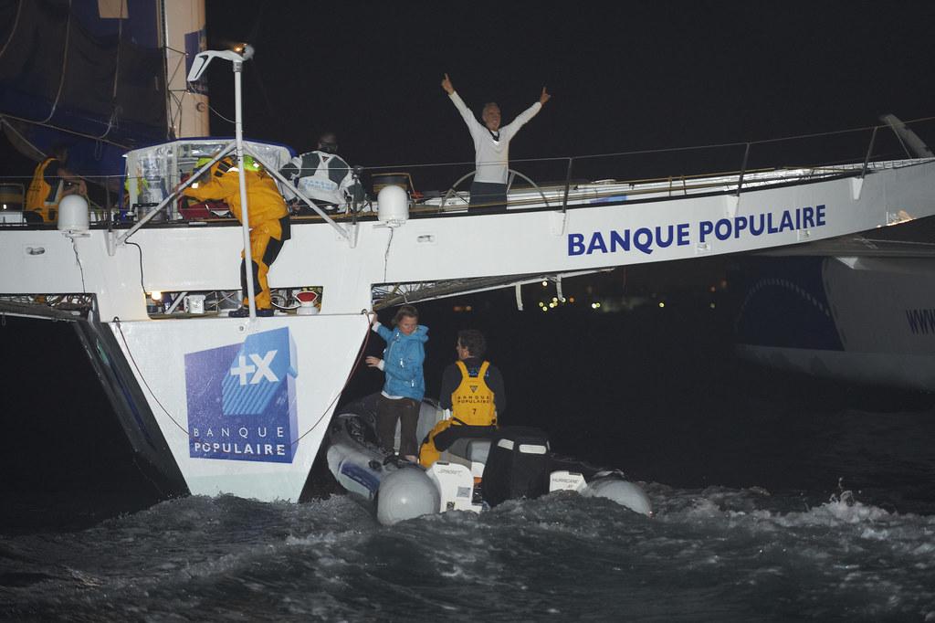 Arrivée Maxi Solo Banque Populaire - Route du Rhum 2014 / BPCE