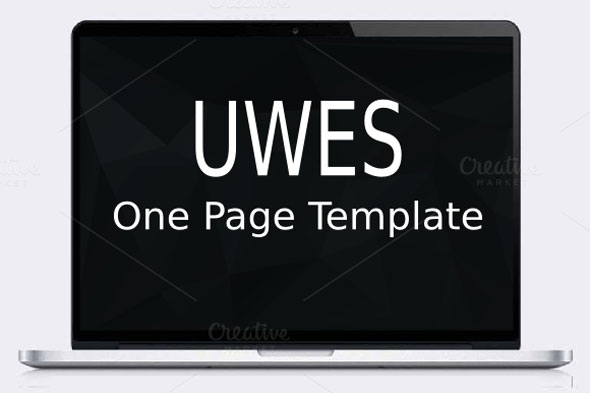 Creativemarket Uwes – One Page Template
