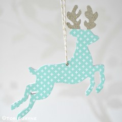 Washi tape hanging deer 1