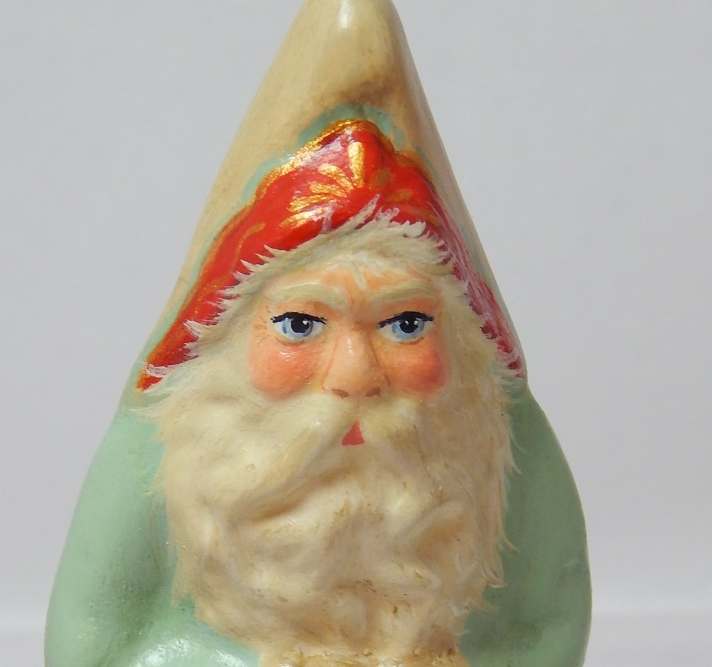 chocolate mold antique Santa
