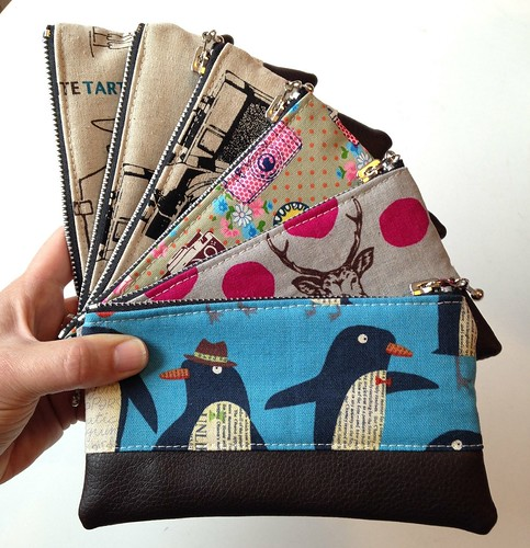 Zip pouches by Poppyprint