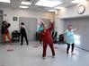 Ageless Action Seniors at Lenox Hill Senior Center do flexibility exercises