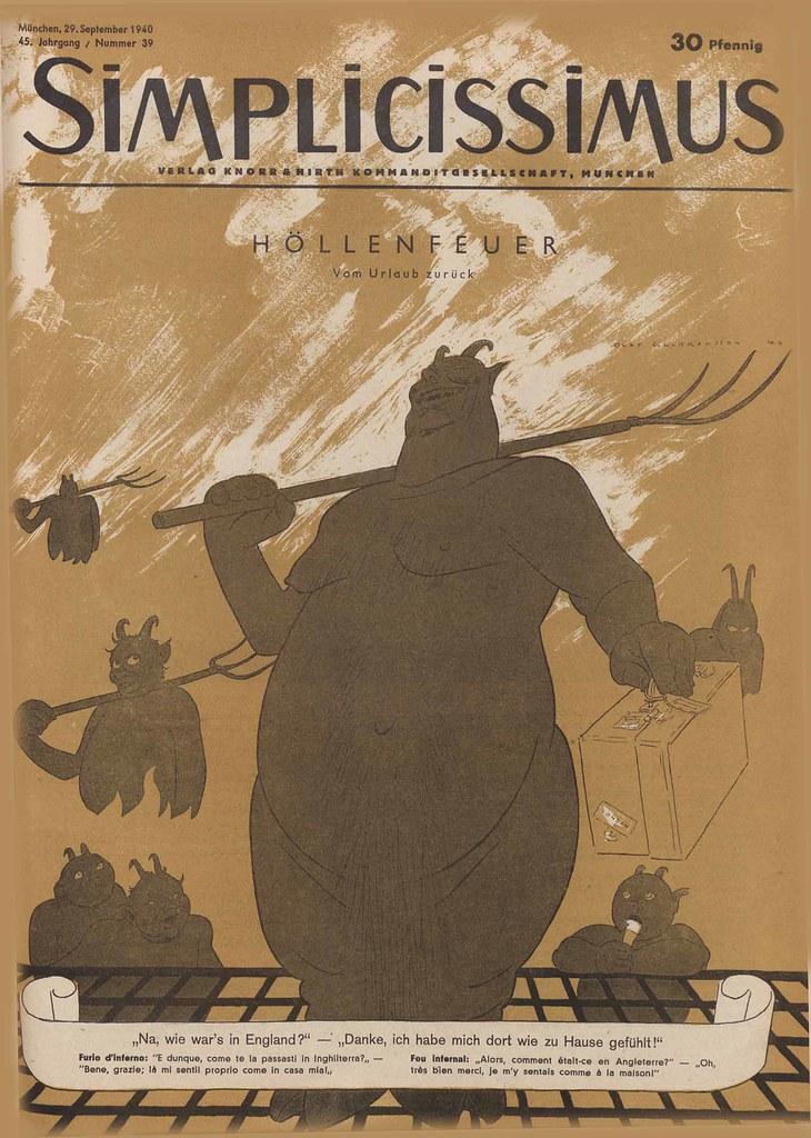 Olaf Gulbransson - Hellfire, 1940