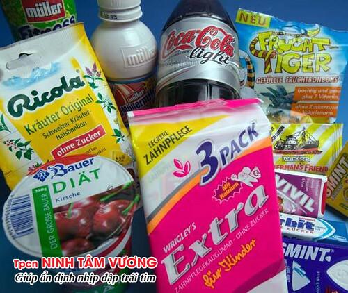 Chất ngọt nhân tạo trong bánh kẹo có thể gây rối loạn nhịp tim