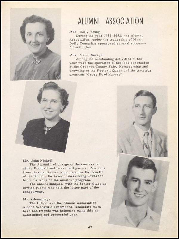 Greenup County Public Libraries 1952 Wurtland High School Yearbook