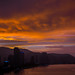 View of the city at sunset, Penang island, George town, Malaysia by Eric Lafforgue