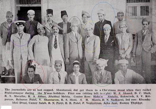 Manto, Agha Jani Kashmiri, Mohsin Abdullah, W.Z. Ahmed, V. Shantaram-1940