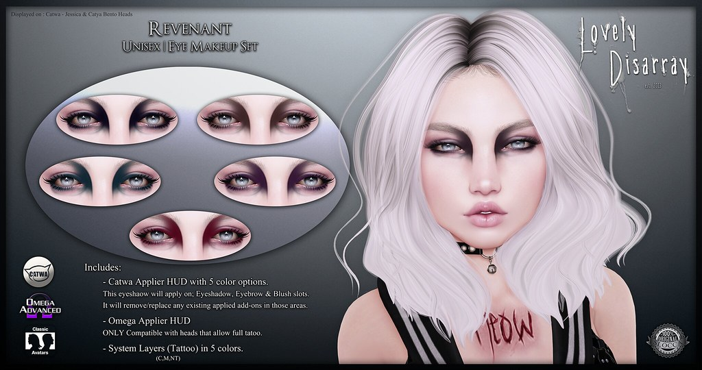 Lovely Disarray - Revenant Eye Makeup : Unisex @ [Memento Mori] - SecondLifeHub.com