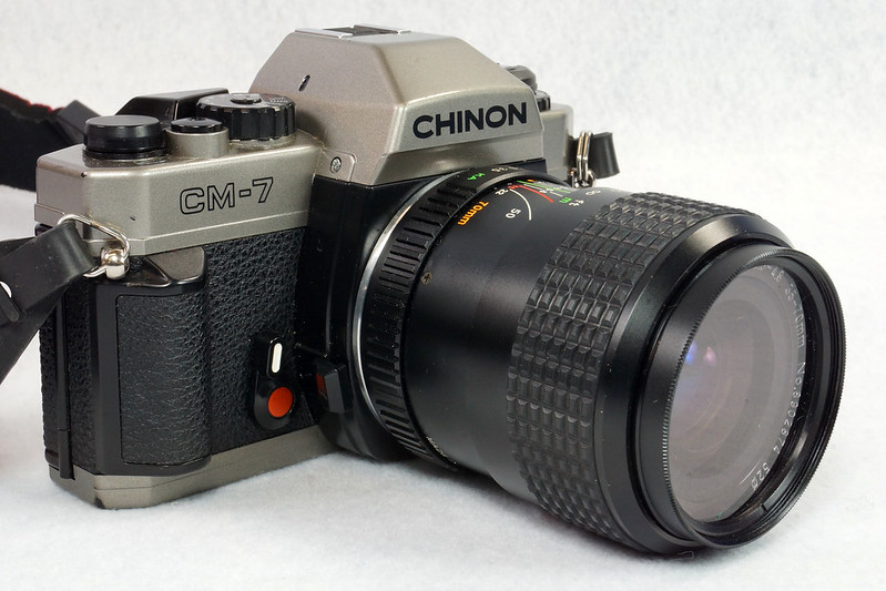 RD14976 Chinon CM-7 35mm SLR Film Camera, 50mm Ozunon Lens, Manuals & Coastar Case DSC07828