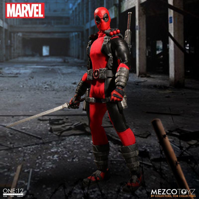 MEZCO – ONE:12 COLLECTIVE 系列【惡棍英雄:死侍】MARVEL Deadpool 1/12 比例人偶作品