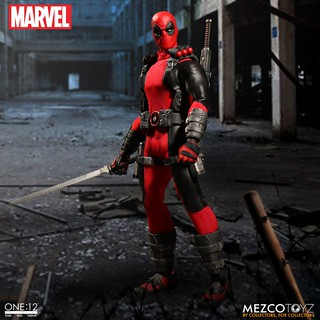 MEZCO – ONE:12 COLLECTIVE 系列【惡棍英雄:死侍】MARVEL Deadpool 1/12 比例人偶作品