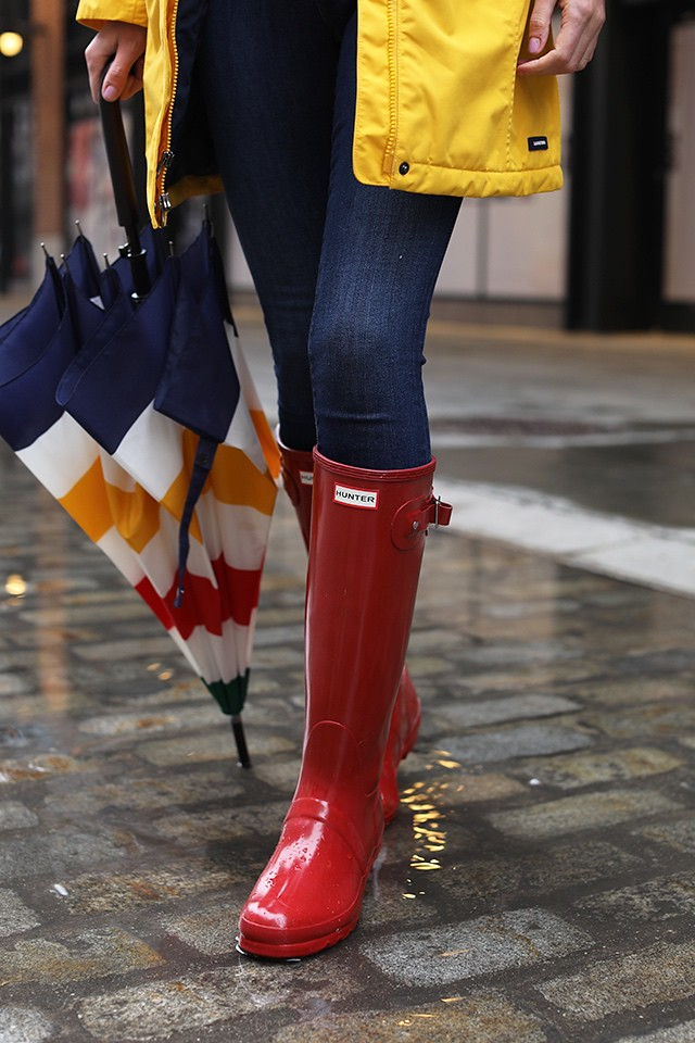 I Love Red Hunter Wellies