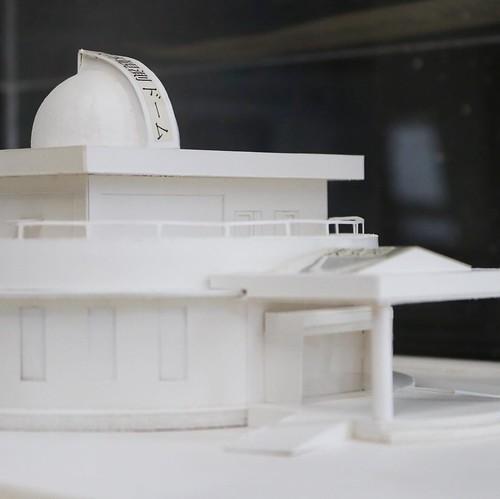 天文台の建築模型。26年前に建てられたもの。 #竜天天文台公園 #赤磐市