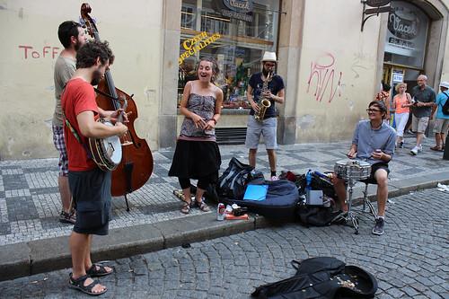 busking Jazz band