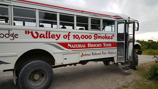 Our Valley of 10,000 Smokes tour bus, just for Fred and me!