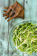 Zucchini, Green Bean and Chile Slaw