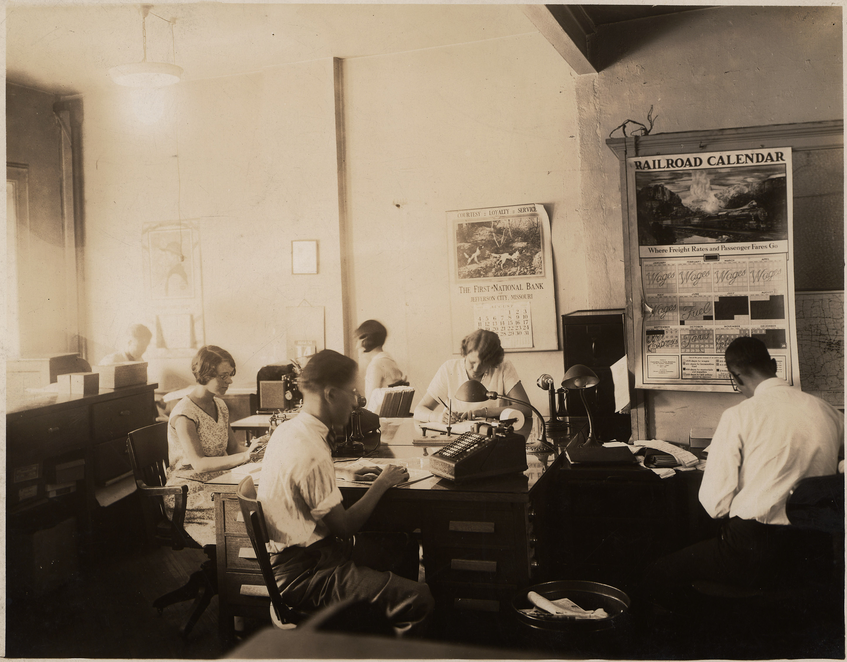 Office Workers at their Desks (MSA)