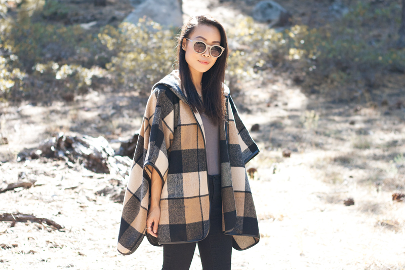 02-plaid-poncho-tahoe-travel-style-fashion
