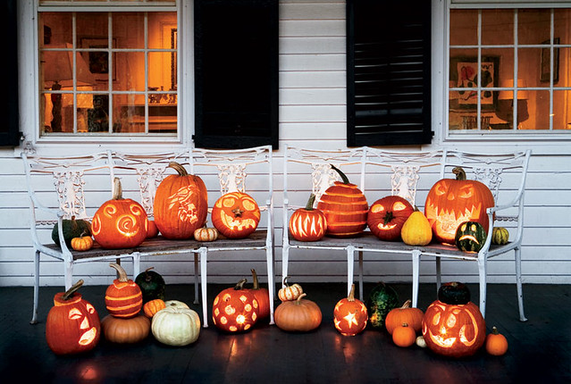 Halloween Decorating Ideas jackolanterns pumpkins