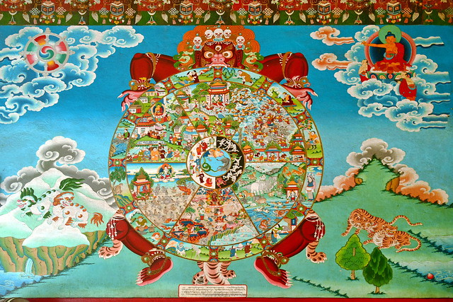India - Sikkim - Phodong - Phodong Monastery - Wheel Of Life - 18