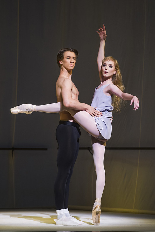 Vadim Muntagirov and Sarah Lamb in Afternoon of a Faun © 2015 ROH. Photo by Tristram Kenton