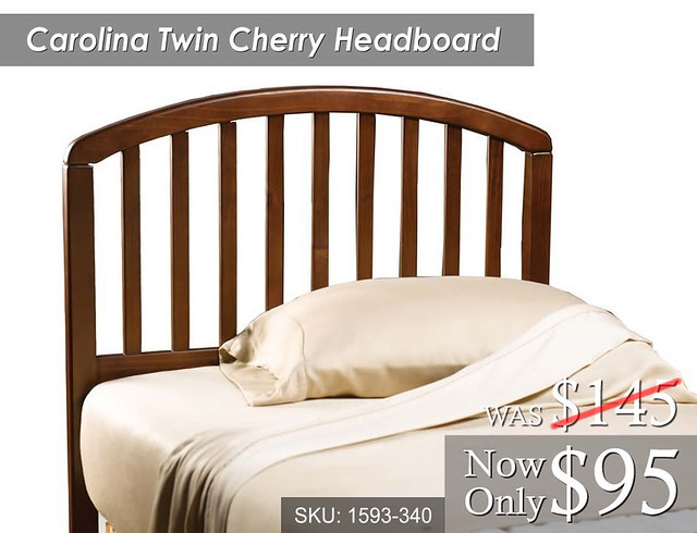 Carolina Twin Cherry Headboard (1593-340) Was 145 Now 95