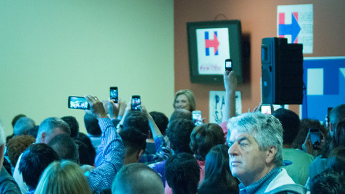 Everyone wants a photo of Hillary Clinton