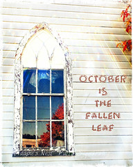 October is the fallen leaf