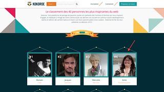 Les 40 personnes les plus influentes du web