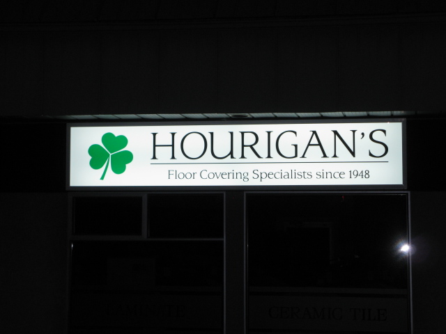 Hourigans night backlit cabinet