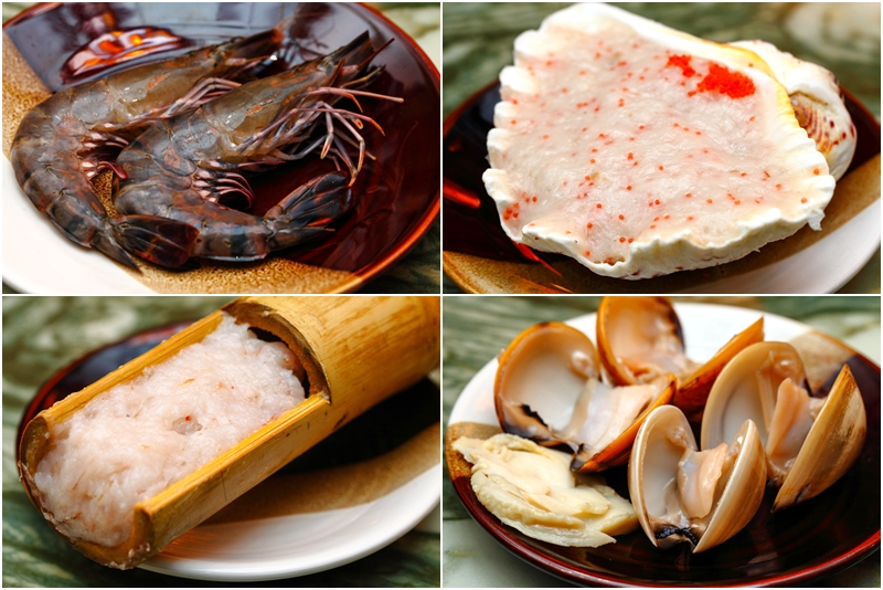 Yezi Steamboat Seafood Ingredients