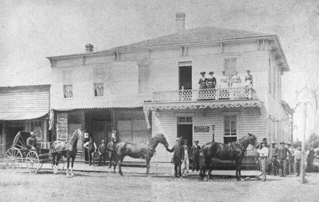 1885 or so - American House - livery with horses